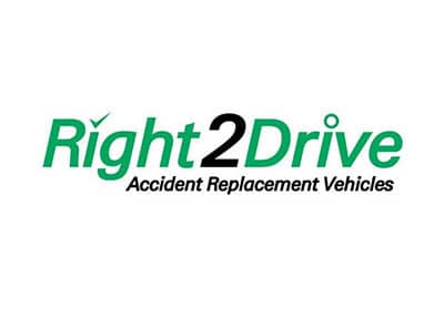 Right2Drive Accident Replacement Vehicle Logo - Smash Repairs Albion, Brisbane